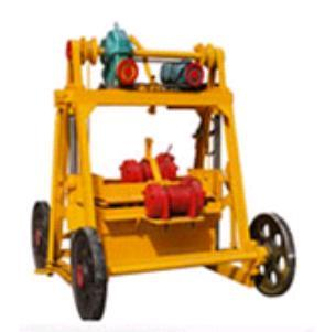 QT40-3A Moving Hollow Block Brick Making Machines in   Yinan County