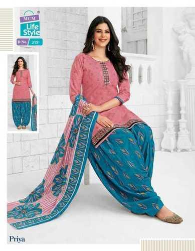Patidar Crystal Ladies Suits With-Chiffon Dupatta