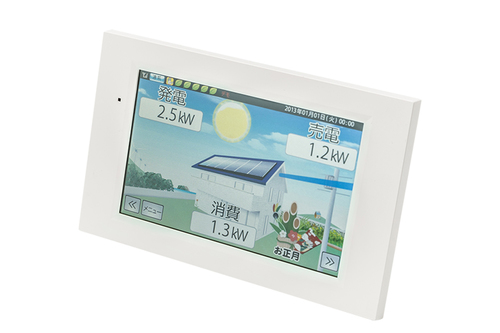 Color Display Unit For Solar Power Generation System