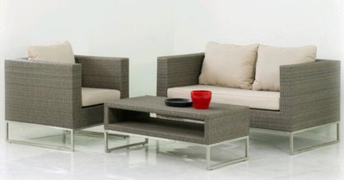 Coronado Deep Seating with Stainless Steel Base Sofa Set