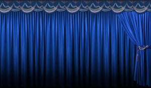 Reliable Nature Motorized Stage Curtains Frills