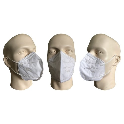 Men Air Pollution Mask PM2.5 N95 - White in  Asaf Ali Road
