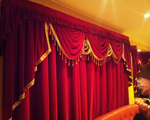 Auditorium Motorized Stage Curtain and Frills