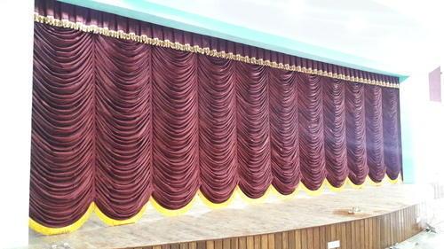 Motorized Vertical Stage Curtain With Frills