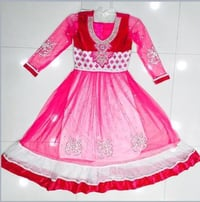 Net And Cotton Kids Frock Dress