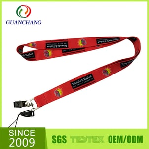 Custom Printed Polyester Neck Lanyard With Release Buckle