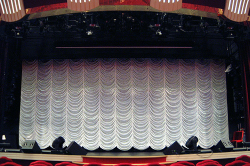 Automated Vertical Stage Curtains