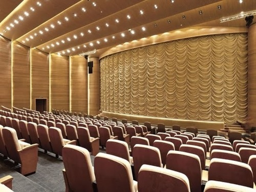Motorized Front Stage Curtains