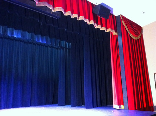 Motorized Auditorium Stage Curtain Wings