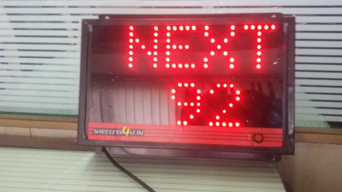 Led Token Number Display (Wired/ Wireless)
