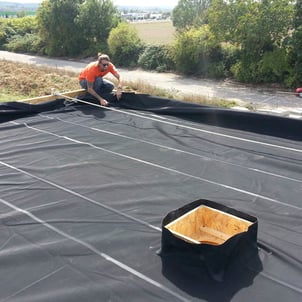 Epdm And Hdpe Waterproofing Membrane