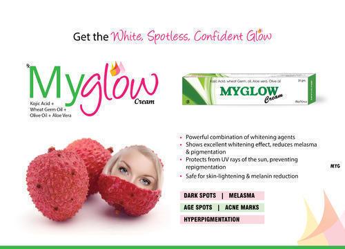 Myglow ( Kojic Acid, Wheat Germ Oil, Aloevera,Olive Oil Cream)