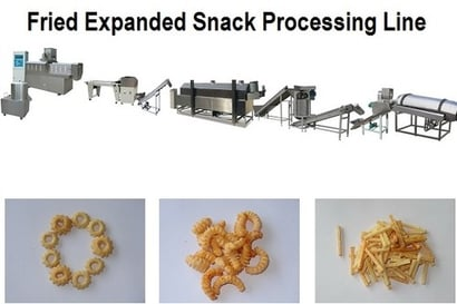 Fried Expanded Snack Processing Line