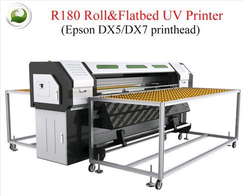 CrysTek CT-R180 Roll And Flatbed UV Printer with Epson dx7