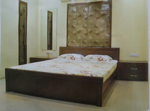 King Size Bed With Side Table