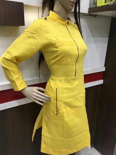 Georgette Kurtis In Yellow