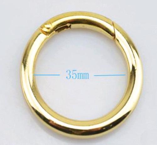 Leather Round Metal O Ring Binder