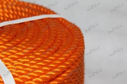 Orange Color Plastic Rope