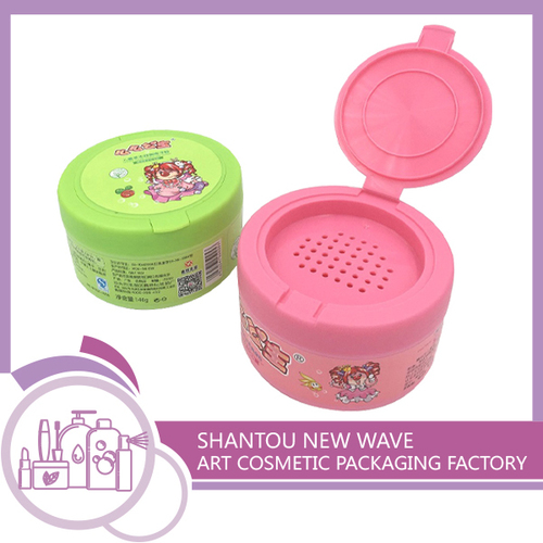 Plastic Talcum Powder Box Powder Container With Holes And Lid
