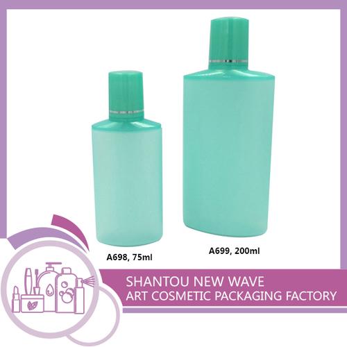 Plastic Empty Skin Care Cream Bottle With Screw Cap
