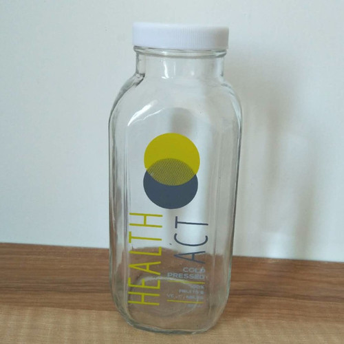 16oz Glass Juice Bottle