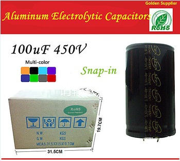 100uF 450V Snap-in Type 25*30 Aluminum Electrolytic Capacitors