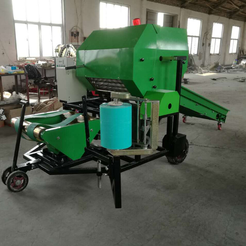 Combined Chopper Wrapper And Baler