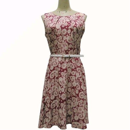 Women Print Dress With Belt