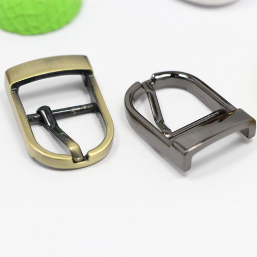 Shield Type Iron Brass Pin Buckles For Belts Shoes And Handbags in   GaoYao city