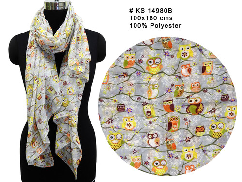 Polyester Printed Long Stole in  63-Sector