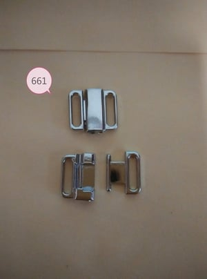 10mm Bright Silver Clasp Front Closure For Underwear