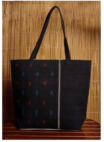 Black Ikkat Handcrafted Cotton Handbag