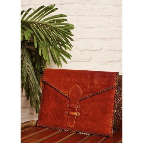 Brown Leather Handcrafted Envelope