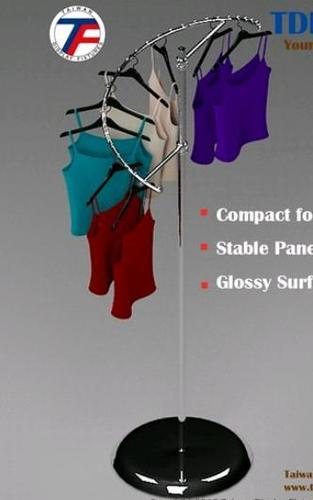 Spiral Style Metal Display Clothes Rack