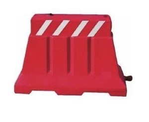 Water Filled Plastic Barricades