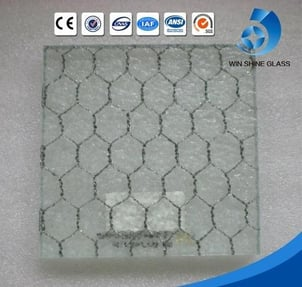 Decorative 6mm 6.5mm 6.8mm 7mm Clear Wired Patterned Glass