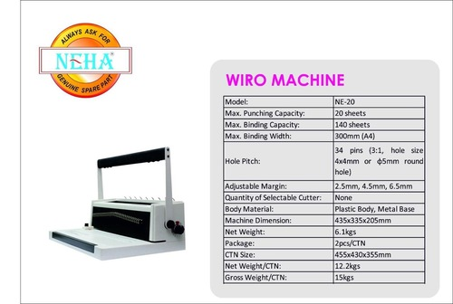 Wiro Binding Machines Ne-20