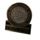 Metal School Badges