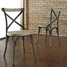 Industrial Cross Back Dining Chairs
