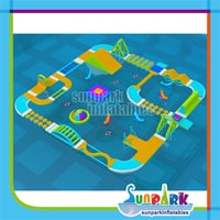 Giant Floating Inflatable Water Park Games