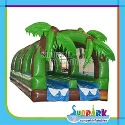 Tropical Dual Water Inflatable Slip and Slide