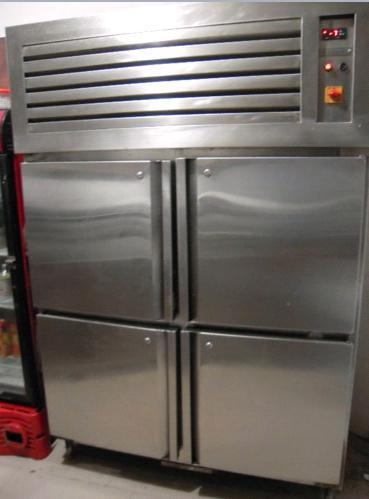 Used Four Door Refrigerator Steel Commercial