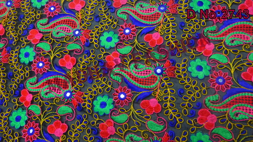 Exclusive Indian Multi Colored Embroidery Thread Work