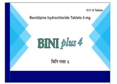 Benidipine 4 mg Tablet