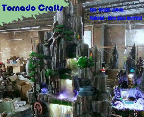 Customized Artificial Rockery Fountains For Decoration Certifications: Ce Iso