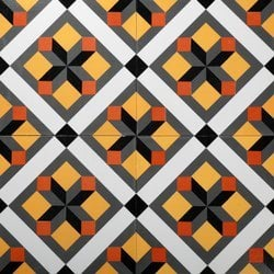 Hand Printed Tiles For Floor
