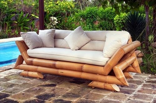 Unique Design Bamboo Crafted Sofa Set