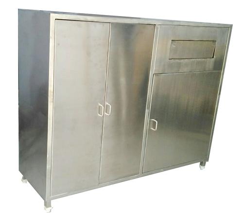 Apron Locker With Used Apron Bin