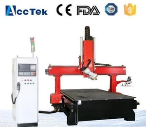 Disk Tool Changer Wood Engraving Cutting Machine With 4 Axis Spindle