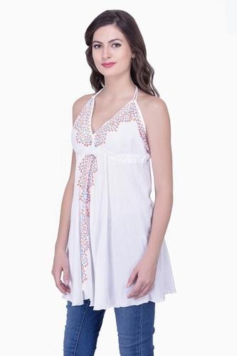 Stylish Rayon Embroidered Top